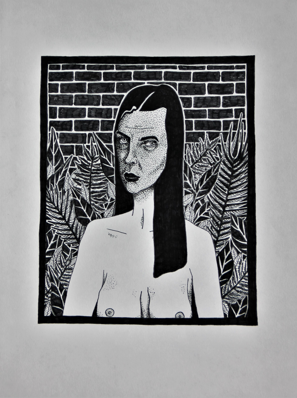 The Mother 21 x 30 cm, fineliner on paper, 2018.