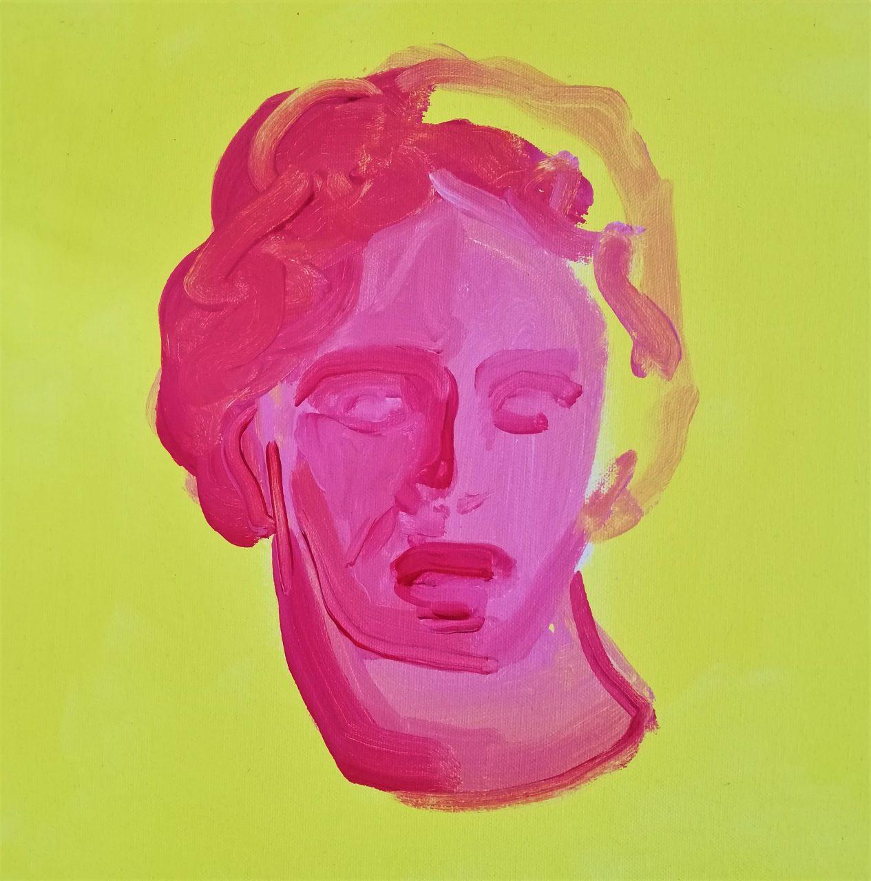 UNTITLED 30 x 30 cm, acrylic on canvas, 2019.